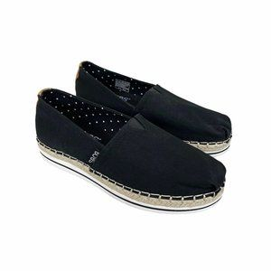 Bobs from Skechers Black Canvas Memory Foam Shoes
